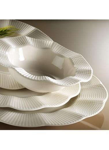 Kütahya Porselen Milena Krem Porselen 24 Parça Yemek Takımı Krem